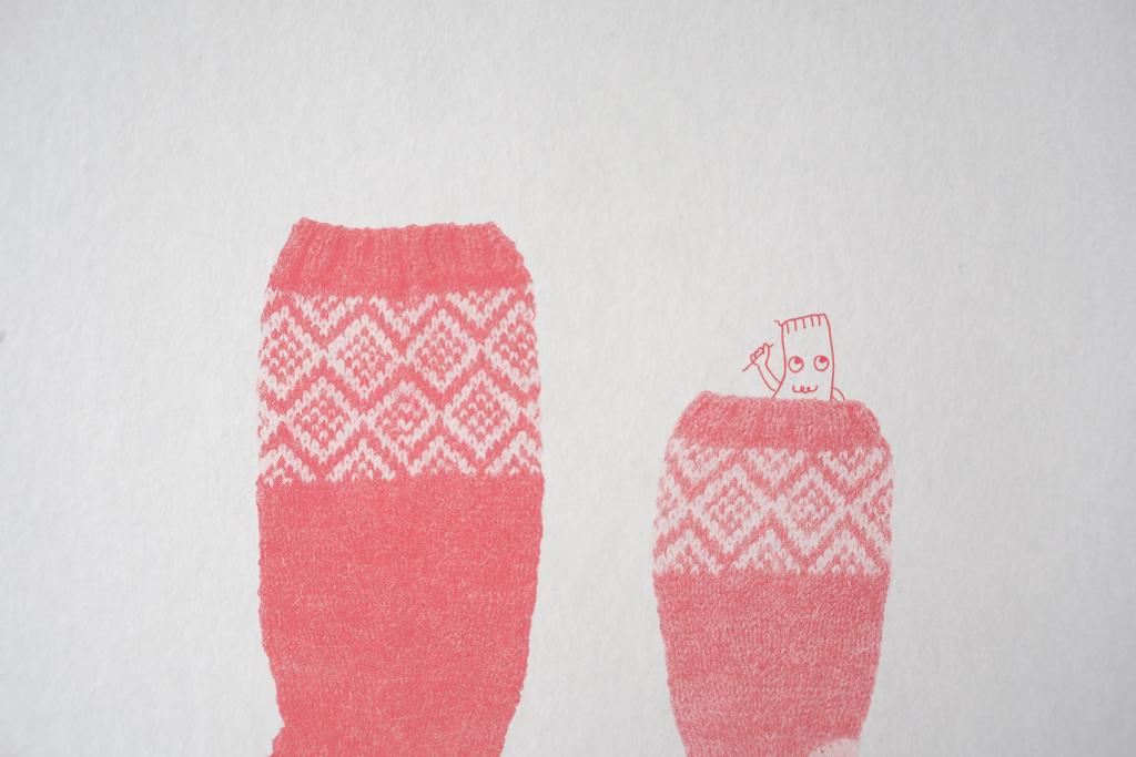 見せたくなるほどかわいい手編みのくつした9